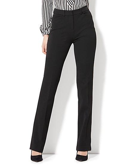 7th Avenue Pant - High-Waist Mini Bootcut - Modern - Black - SuperStretch - Petite - New York & Company