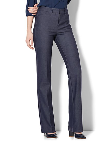 7th Avenue Pant - High-Waist Mini Bootcut - Modern - Leaner Fit - Navy - Tall - New York & Company