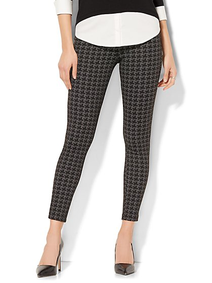 7th Avenue Pant - Legging - Ponte - Black - Print - New York & Company
