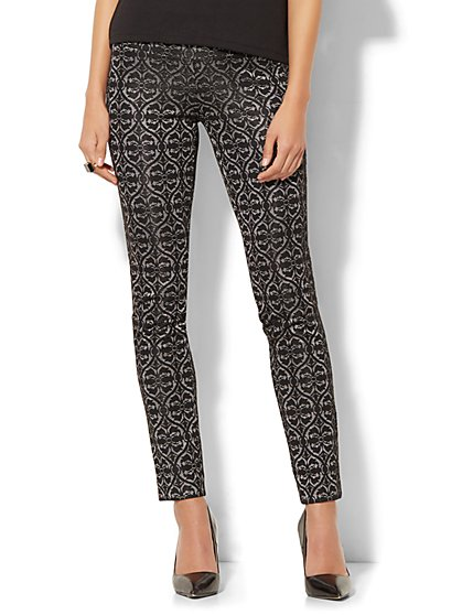7th Avenue Pant - Legging - Pull-On - Jacquard - New York & Company