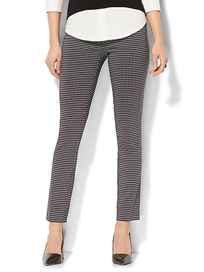 7th Avenue Pant - Legging - Pull-On - Linear Dot Print - New York & Company