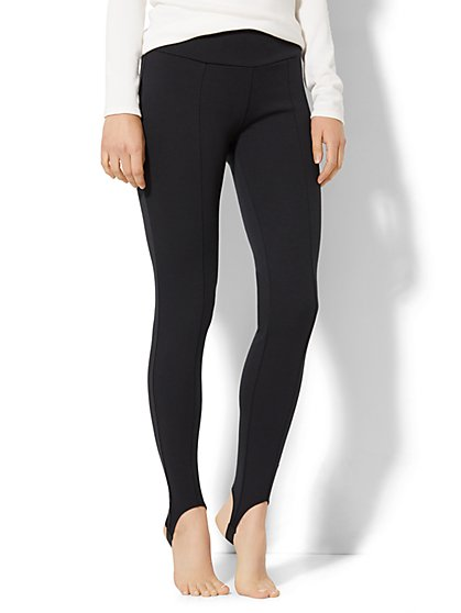 7th Avenue Pant - Legging - Pull-On Stirrup - Ponte - Black - New York & Company