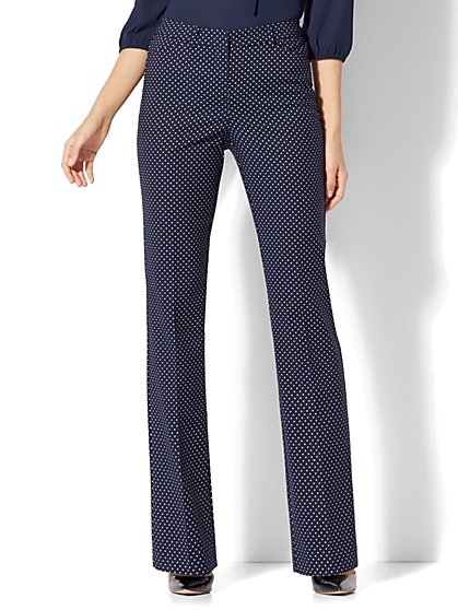 7th Avenue Pant - Mini Bootcut - Modern - Pindot Print - Tall - New York & Company