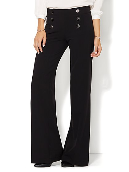 7th Avenue Pant - Modern Fit - Sailor Pant - Black - New York & Company