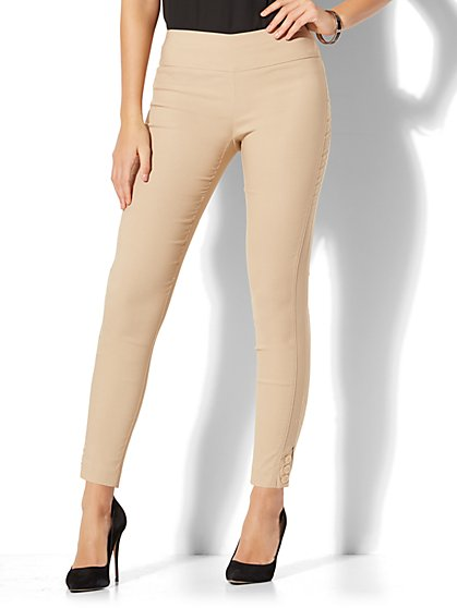 7th Avenue Pant - Pull-On Ankle - Khaki - New York & Company