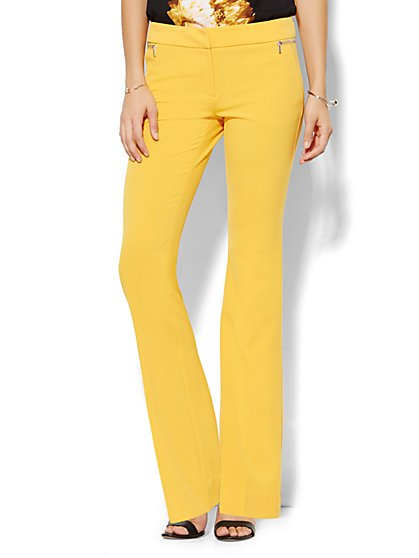 7th Avenue Pant - Runway Fit - Slim Flare - Zip Accents - New York & Company