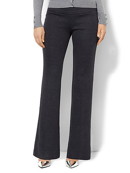 7th Avenue Pant - Signature Fit - Bootcut Pull-On - Birdseye Pattern - New York & Company