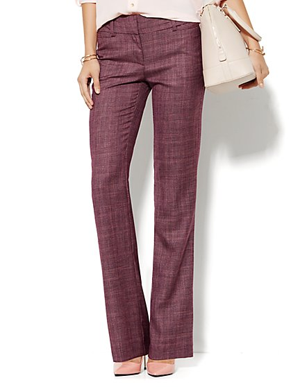 7th Avenue Pant - Signature Fit - Bootcut - True Burgundy - Tall  - New York & Company
