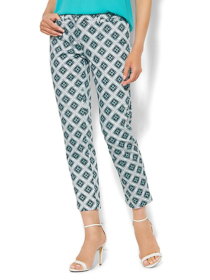 7th Avenue Pant - Signature Fit - Slim Ankle - Print  - New York & Company
