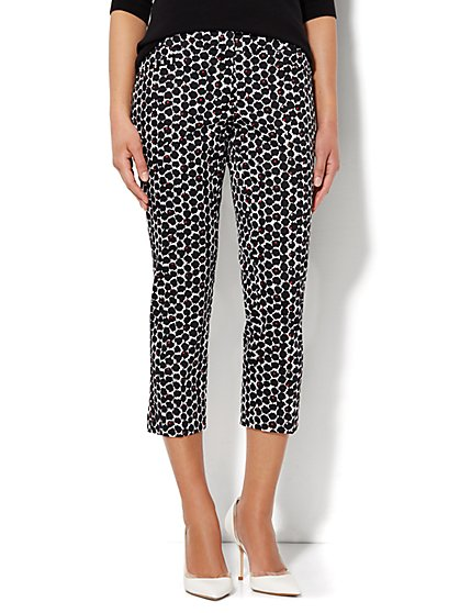 7th Avenue Pant - Signature Fit - Slim Crop - Abstract Print  - New York & Company