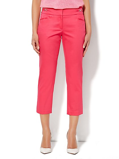 7th Avenue Pant - Signature Fit - Slim Crop - Cotton Sateen  - New York & Company