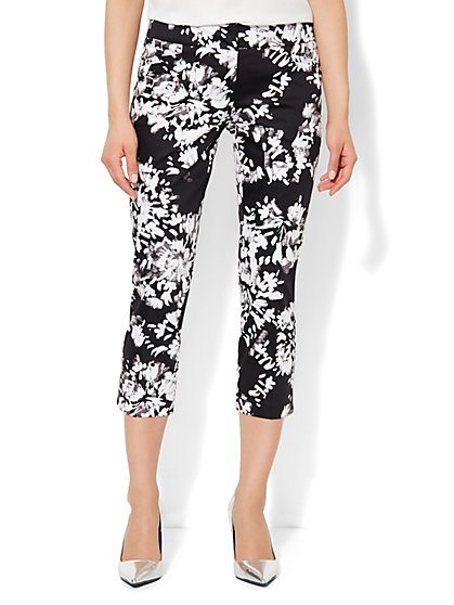7th Avenue Pant - Signature Fit - Slim Crop - Floral Print  - New York & Company