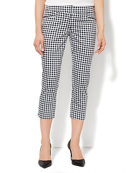 7th Avenue Pant - Signature Fit - Slim Crop - Gingham  - New York & Company