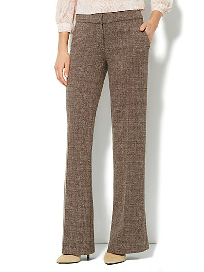 7th Avenue Pant - Signature Fit - Wide Leg Trouser - Heritage Tweed - New York & Company