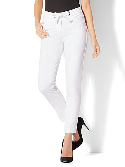7th Avenue Pant - Slim Ankle - Modern Fit -White - New York & Company