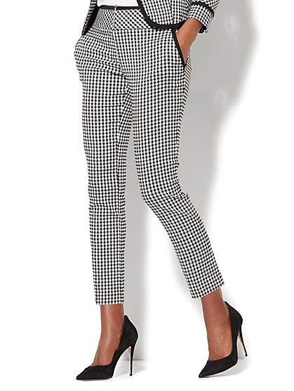 7th Avenue Pant - Slim Ankle - Signature - Gingham - Tall - New York & Company
