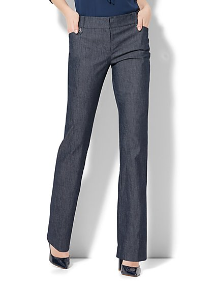 7th Avenue Pant - Straight Leg - Modern - Grand Sapphire  - New York & Company