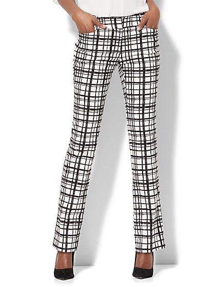 7th Avenue Pant - Straight-Leg - Signature - Check Print - Tall - New York & Company