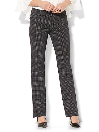 7th Avenue Pant - Straight Leg - Signature - Dot Print - New York & Company