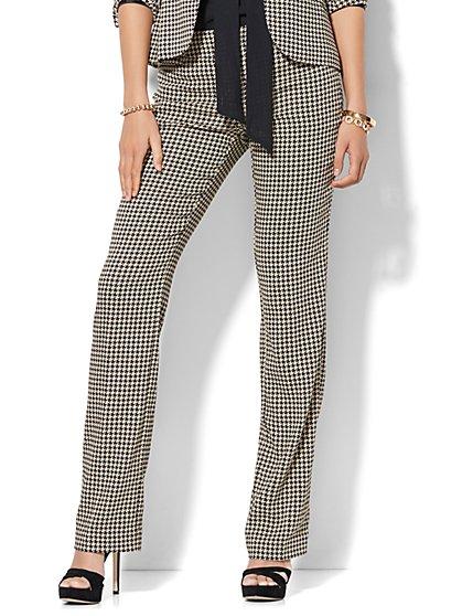 7th Avenue Pant - Straight Leg - Signature - Houndstooth - New York & Company