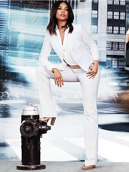 7th Avenue Pant - Straight Leg - Signature - White - New York & Company