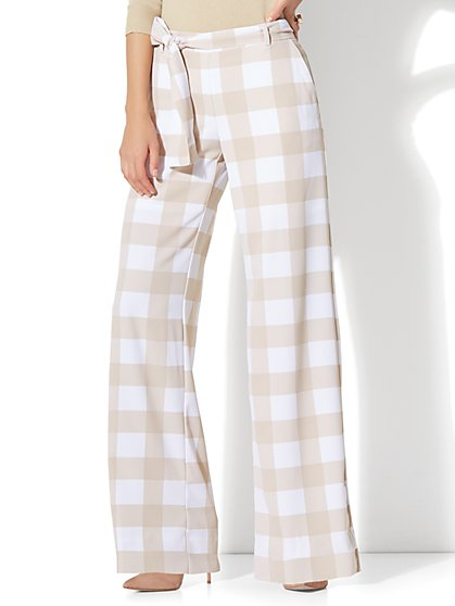 7th Avenue Pant -Tie-Waist Palazzo - New York & Company