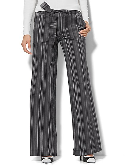 7th Avenue Pant - Wide-Leg - Modern - Stripe - New York & Company