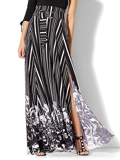 7th Avenue Paper Bag-Waist Maxi Skirt - New York & Company