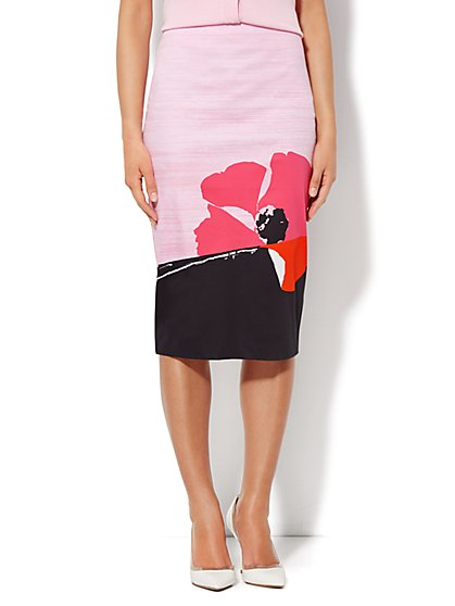 7th Avenue Pencil Skirt - Floral Print - New York & Company