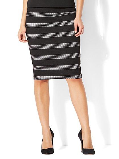7th Avenue - Pull-On Pencil Skirt - Stripe - New York & Company