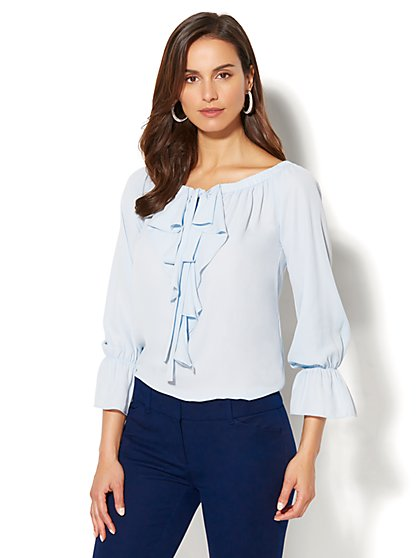 7th Avenue - Ruffled Off-The-Shoulder Blouse - New York & Company