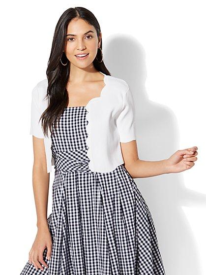 7th Avenue - Scalloped Dress Cardigan - New York & Company