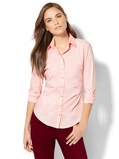 7th Avenue - Seamed Madison Stretch Shirt - New York & Company