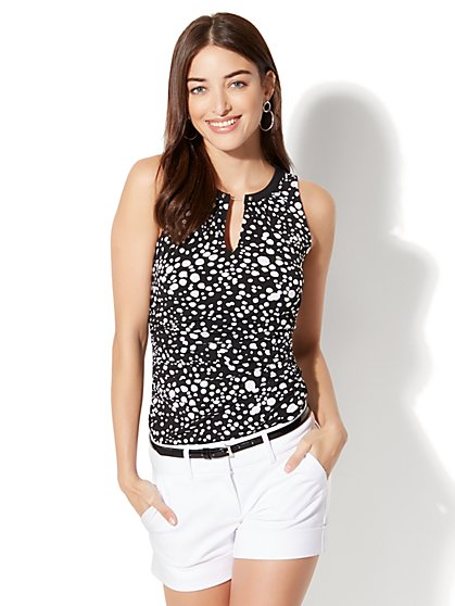 7th Avenue Sleeveless Top - Black - New York & Company