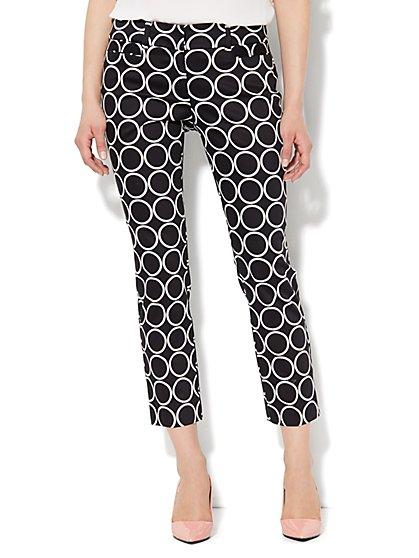 7th Avenue Slim Ankle Pant - Circle Print  - New York & Company