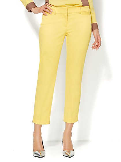 7th Avenue Slim Ankle Pant - Delightful Daisy  - New York & Company