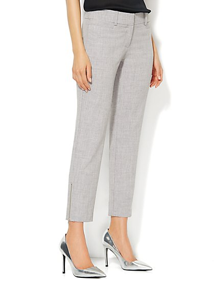 7th Avenue Slim Ankle Pant - Grey  - New York & Company