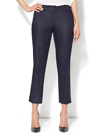 7th Avenue Slim Ankle Pant - Navy  - New York & Company