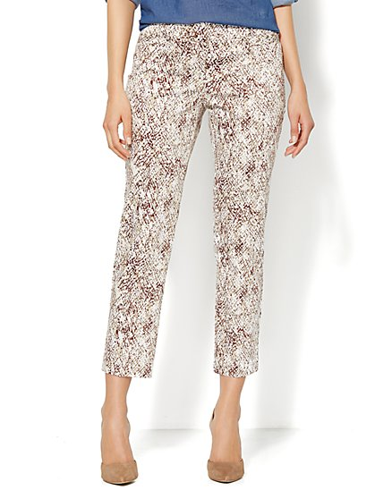 7th Avenue Slim Ankle Pant - Sateen Python - New York & Company