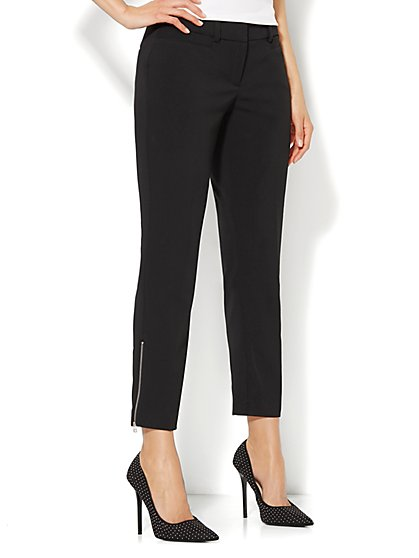 7th Avenue Slim Ankle Pant - Solid  - New York & Company