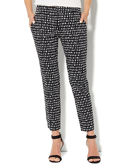7th Avenue Slim Ankle Pant - Windowpane Print