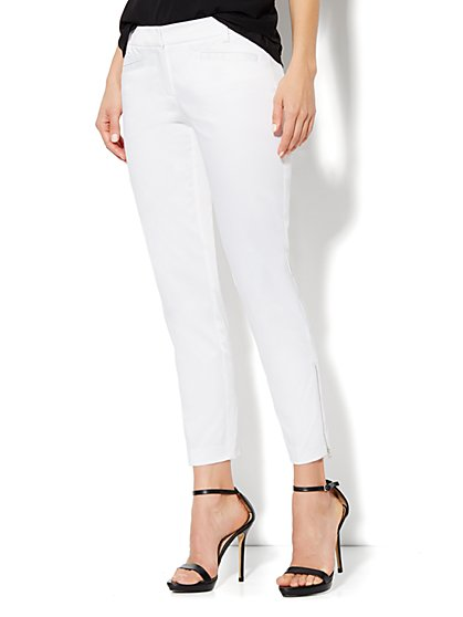 7th Avenue Slim Ankle Pant - Zip Hem