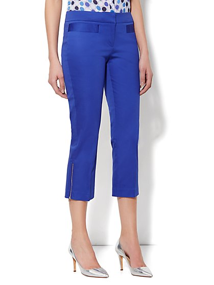 7th Avenue Slim Straight Ankle - Sateen Zip Hem