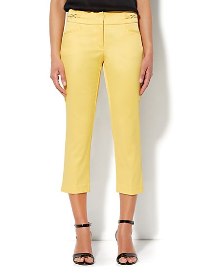 7th Avenue Slim Straight Crop Pant - Twill - New York & Company