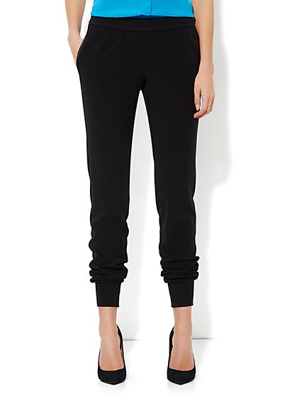 7th Avenue Soft Jogger Pant - Black - New York & Company