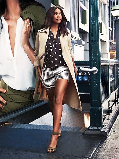 7th Avenue - Soft Wrap Trench Coat - New York & Company