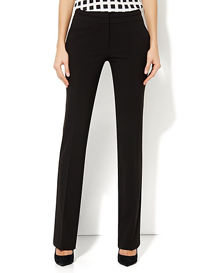 7th Avenue Straight Leg Pant - Black - Petite