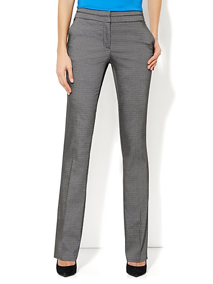 7th Avenue Straight Leg Pant - Night Grey - Petite