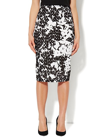 7th Avenue Suiting Collection Eyelet Pencil Skirt - New York & Company