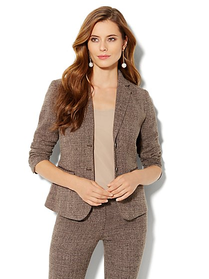 7th Avenue Suiting Collection Heritage Tweed Jacket - New York & Company